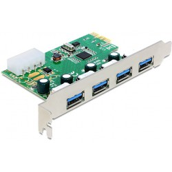 I/O PCI-E DeLOCK 4x external USB 3.0