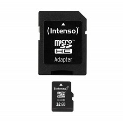 Micro SDHC 32GB Intenso 1 Adapter Class 10...