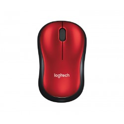 Mouse Logitech M185 Wireless red
