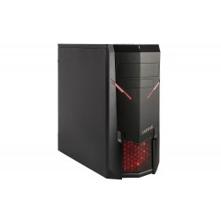 PC- Gehäuse Captiva Gaming 8837 Red LED